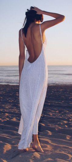 #summer #fashion / scoop-back maxi