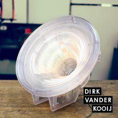 Dirk Vander Kooij Satellite Lamp using 3D printing of recycled CD cases - very cool