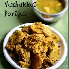Vazhakkai poriyal/Raw banana curry recipe for rice
