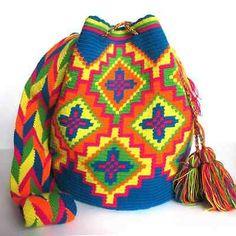 Authentic-Handmade-Wayuu-Mochila-Bag-wayuu-bag-Flower $80.00
