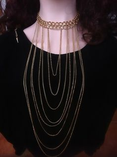 Gold Plated Body Chains Necklace Choker
