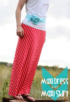 Turn an ill fitting Maxi Dress into a Maxi SKIRT!!  Super speedy and super comfy!!  www.makeit-loveit.com