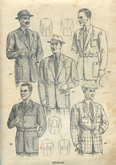 1948 men's sporting clothes