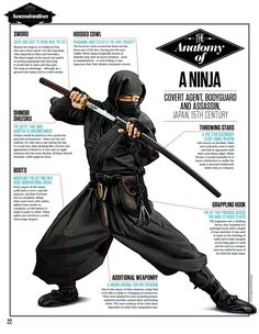 Traditional ninja costume by All About History Ninja Kunst, Arte Ninja, Karate, Ninja Outfit, Ninja Gear, Ninja Training, Martial Arts Weapons, Martial Arts Techniques, Ju Jitsu