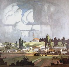 JH Pierneef - Louis Trichardt 1925 - where I were born and raised Louis Trichardt, South Africa Art, African Art Paintings, South African Artists, Artist Art, Landscape Art, Illustrations Posters, Modern Art, Illustration Art