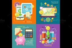 Mbanking, Finance Market, Management by robuart on Creative Market