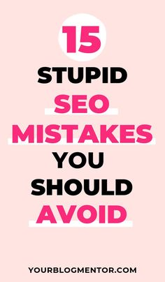 To build a good search engine optimization strategy and gain real organic traffic, you need to stop making stupid mistakes. Here are 15 stupid SEO mistakes that you should avoid Search Engine Marketing, Seo Marketing, Digital Marketing Strategy, Internet Marketing, Online Marketing, Seo Optimization, Search Engine Optimization, Experiment, Seo Software