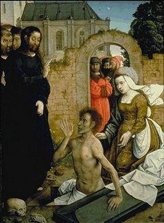 Juan de Flandes ca. 1465 – 1519     The Raising of Lazarus     oil on panel (110 × 84 cm)
