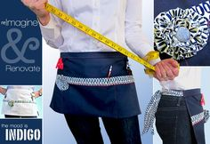 Half apron for crafting, sewing, selling, just about any 'ing you have in mind.