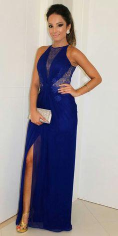 Vestido madrinha azul royal