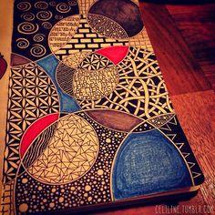 CIRCLES#zentangle #doodle #drawing #moleskine #illustration #sketchbook #sketches #sketching #notebook