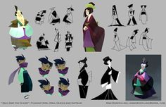"""""""Aiko and the Ghost"""" character development by Ann Marcellino ►get more @rohitanshu◄"""