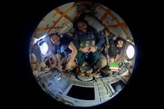Yesterday @AstroTerry, @AntonAstrey and I spent some quality time in the #Soyuz getting ready for landing! #Futura42
