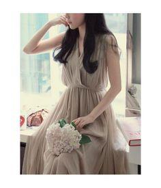 Elegant Lady chiffon Long dressfashion-drop.com