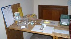 Laboratorio per lo studio, la schedatura e il restauro dei reperti ceramici.
