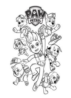 paw patrol coloring pages and paw patrol coloring pages image