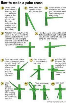 Graphic: How to make a Palm Cross on Palm Sunday Catholic Religious Education, Catholic Crafts, Catholic Kids, Church Crafts, Kids Church, Catholic Catechism, Church Ideas, Roman Catholic, Idees Cate