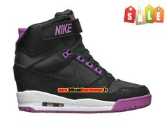 Nike Air Revolution Sky Hi GS Chaussures Montante Nike Pas Cher Pour Femme Noir/Rose 599410-001