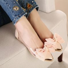 Cute Slip On Bowknot Flat Shoes