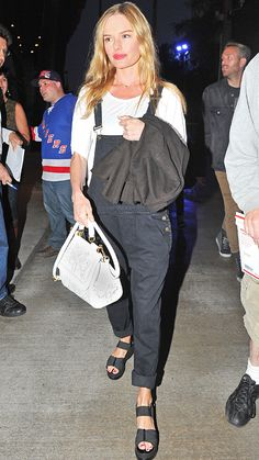 Trend Alert: Celebrities in Overalls - Kate Bosworth from #InStyle