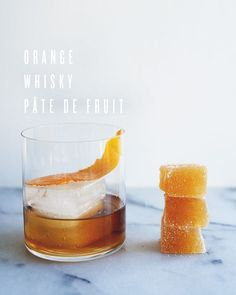 orange whisky pate de fruit -- hoping to make these for the wonderful man in my life for valentines