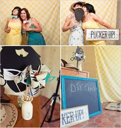 DIY photobooth, perfect for this laid back country wedding