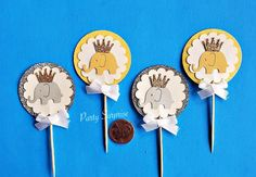 Elephant Cupcake Toppers Baby Girl Baby Boy Shower Gender Reveal New Baby Elephant Cake Cupcake Decoration Toppers Yellow Silver and White by PartySurprise on Etsy Baby Elephant Cake, Elephant Cupcakes, Its A Boy Balloons, Baby Balloon, Grey Baby Shower, Baby Shower Gender Reveal, Glitter Cards, Pink Glitter, Safari Party Decorations