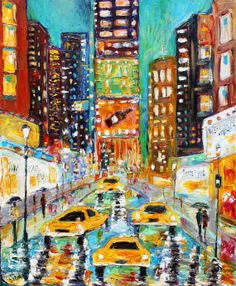 Hey, I found this really awesome Etsy listing at https://www.etsy.com/listing/192281310/original-oil-painting-times-square-new