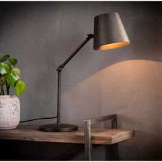 Table Lamp Celso lamp charcoal - Available from stock! Black Table Lamps, Led Lampe, Charcoal Color, Ubud, Desk Lamp, The Hamptons, My House, Future House, Indoor