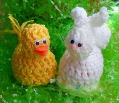 Crochet Duckie Plastic Easter Egg Holder