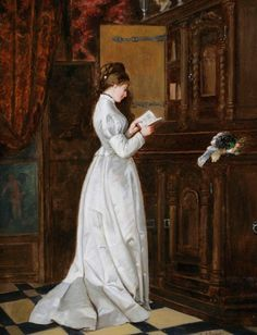 Klaus, Johannes - Standing Woman Reading Letter -2b