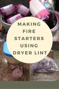 Looking for a use for your dryer lint? Try these homemade decorative fire starters that use dryer link and petroleum jelly to create a great fire starter! These work great for starting fireplaces, wood stoves or campfires and they're really easy to make. Diy Camping, Camping Hacks, Camping Ideas, Rv Hacks, Camping Supplies, Camping Life, Rv Life, Family Camping, Indoor Activities For Kids