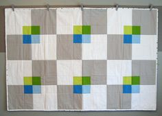 Fantastic-a-mundo windowpane quilt by Dayna Stedry of Catnip Alley Studio. Dyi Crafts, Fabric Crafts, Grey Quilt, Boy Quilts, New Energy, Quilt Patterns, Quilting Ideas, Square Quilt, So Little Time