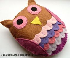 Bugs and Fishes by Lupin: How To: Felt Owl (Another One I Want To Turn Into a Small Ornament)