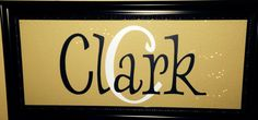 Personalized Last Name Sign. Framed Last Name Decor. DIY.  Cricut Project. Cricut Vinyl. Personalized Gift.
