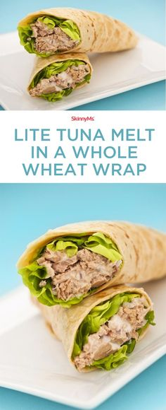 The perfect Tuna Melt wrap for a refreshing lunch option! #tunamelt # ...