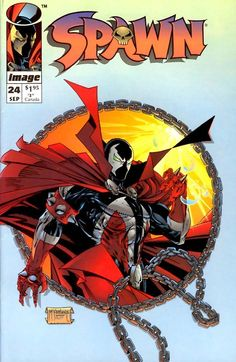 Spawn 1992 24 September 1994 Issue Image Comics by ViewObscura Spawn Comics, Marvel Comics, Spawn 1, Spawn Toys, Marvel Dc, Comic Book Characters, Comic Books Art, Book Art, Cyberpunk