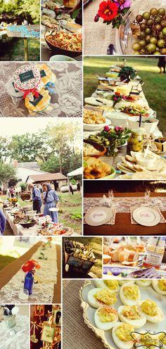Backyard wedding food