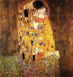 The Kiss (Der Kuss) by Gustav Klimt. Poster The Kiss by Gustav Klimt Art Print Poster Kiss Painting, Painting Prints, Abstract Paintings, Oil Paintings, Art Klimt, The Kiss, Framed Art Prints, Poster Prints, Franz Josef I