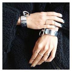 Cuffs + rings.