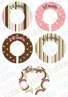 Boutique Style Custom Clothing Dividers  Brynleigh by babyfables, $10.00