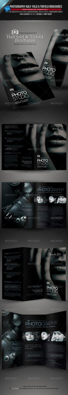 Photography Half-Fold and Trifold Brochures - You can get the template files here, http://graphicriver.net/item/photography-halffold-and-trifold-brochures/3890851?r=kinzi21
