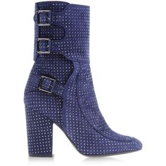 Laurence Dacade Ankle Boots (13 615 ZAR) ❤ liked on Polyvore featuring shoes, boots, ankle booties, ankle boots, dark blue, bootie boots, round toe boots, real leather boots and dark blue boots