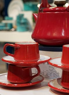 LOVE these coffee cups #Dansk..  Maybe I should get these in purple, since that is his favorite color.