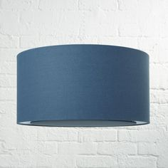 Blue Drum Pendant Light | Crate and Barrel