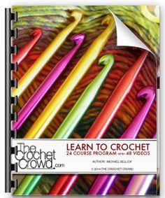 Free Learn to Crochet Ebook by Mikey - The Crochet Crowd [Learn from the best! Crochet Quilt, Tunisian Crochet, Learn To Crochet, Diy Crochet, Crochet Stitches, Crochet Hooks, Crochet Patterns, Left Handed Crochet, Japanese Crochet