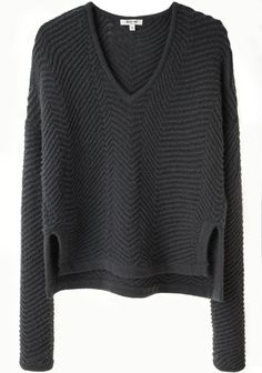 HELMUT LANG - TEXTURED RIB PULLOVER