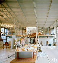 Willem de Kooning's studio