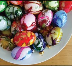 Hand painted glass eggs