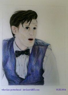 ~ eleventh doctor ~ #doctorwho #doctor #who #11thdoctor #eleventhdoctor #eleventh #doctor #bowtie #bowtiesarecool #drawing